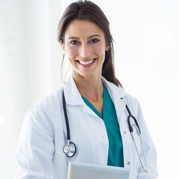 Foto de uma anestesiologista